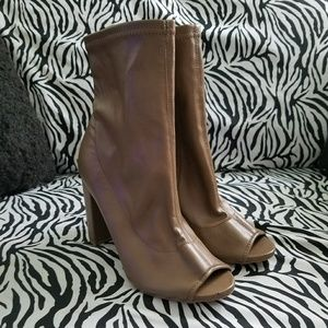 Wild Diva  Open Toe Ankle Boots